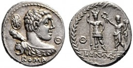 The Collection of Roman Republican Coins of a Student and his Mentor Part III   Pub. Cornelius Lentulus Marcellinus. Denarius 100, AR 3.91 g. Bust of...