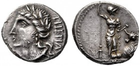 The Collection of Roman Republican Coins of a Student and his Mentor Part III   The Bellum Sociale. Denarius, Bovianum (?) circa 89 (?), AR 3.85 g. L...
