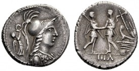 The Collection of Roman Republican Coins of a Student and his Mentor Part III   The Bellum Sociale . Denarius, mint moving in Campania 87, AR 4.08 g....