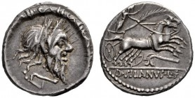The Collection of Roman Republican Coins of a Student and his Mentor Part III   D. Iunius Silanus. Denarius 91, AR 3.88 g. Diademed head of Silanus r...
