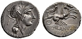 The Collection of Roman Republican Coins of a Student and his Mentor Part III   D. Iunius Silanus. Denarius 91, AR 3.89 g. Helmeted head of Roma r.; ...