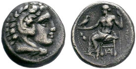 Macedonian Kingdom. Alexander III 'the Great'. 336-323 B.C. AR drachm .   Condition: Very Fine  Weight: 4.10 gr Diameter: 17 mm