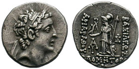 Kings of Cappadocia, Ariarathes VII Philometor (116-101), Drachm, c. 103 BC; AR Drachm; Diademed head of Ariarathes r., Rv. BAΣIΛEΩΣ APIAPAΘOY, Athena...