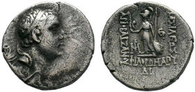 KINGS of CAPPADOCIA. Ariobarzanes I Philoromaios, 96-63 BC.AR Drachm , Mint A (Eusebeia), RY 30 = 66/5. Diademed head of Ariobarzanes to right. Rev. B...