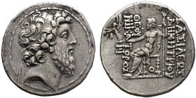 SELEUKID KINGS of SYRIA. Demetrios II Nikator. Second reign, 129-126/5 BC. AR Tetradrachm . Antioch mint. Diademed head right / BAΣIΛEΩΣ ΔEMETRIOY ΘEO...