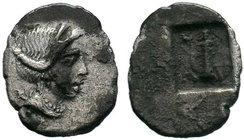 LYCIA. Masikytes. AR ¼ drachm. Bust of Artemis right / Quiver.   Condition: Very Fine  Weight: 0.80 gr Diameter: 14 mm