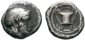 LESBOS. Methymna. Obol (450/40-406/379 BC).