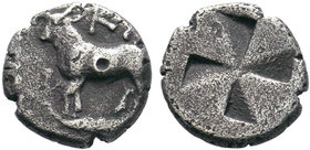 Bithynia, Kalchedon (c. 4th Century BC), AR, Rare!  Condition: Very Fine  Weight: 1.06 gr Diameter: 11 mm