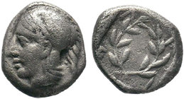 AEOLIS. Elaia. Obol (4th-3rd century BC).  Condition: Very Fine  Weight: 1.23 gr Diameter: 11 mm