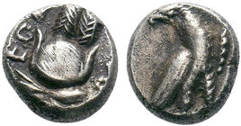 Phoenicia, AR Obol. Circa 4th century BC. ??  Condition: Very Fine  Weight: 1.04 gr Diameter: 9 mm
