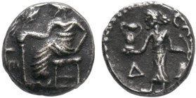 Uncertain mint AR Obol. Circa 4th century BC.