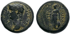 LYDIA. Sardes. Germanicus (Died 19). Ae. Mnaseas, magistrate.