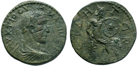 PAMPHYLIA. Side. Maximinus Thrax (235-238). Ae Pentassarion. Obv: Laureate, draped and cuirassed bust right;  Rev: СΙΔΗ / ΤΩΝ. RARE! Condition: Very F...