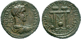 PONTUS, Neocaesarea. Severus Alexander. AD 222-235. AE Bronze. Dated CY 171 (AD 234/5). Laureate, draped, and cuirassed bust right / Two prize urns, c...