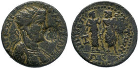 CILICIA. Irenopolis-Neronias. Valerian I (253-260). Ae Octassarion. Dated CY 203 (254/5). Obv: AVT K Π ΛI OVAΛЄPIANOC. Radiate and cuirassed bust righ...