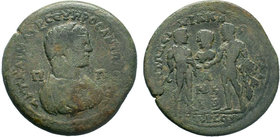 CILICIA, Tarsus. Caracalla. AD 198-217. AE Bronze.AYT KAI M AYP CЄYHPOC ANTΩNЄINOC / Π - Π Bust right, wearing crown and garments of the demiourgos /Α...