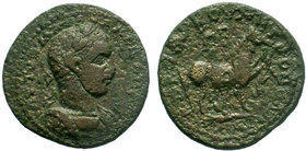 CILICIA, Anazarbus. Severus Alexander. AD 222-235. Æ Tetrassaria AE Bronze. Dated CY 248 (AD 229/30).ΑΥΤ ΚΑ Μ Α ϹƐΟΥ ΑΛƐΞΑΝΔΡΟϹ Ϲ Laureate, draped, an...