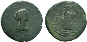 CILICIA, Augusta. Plautilla. Augusta, AD 202-205. Æ (31mm, 19.21 g, 12h). Dated CY 182 (AD 201/2). Draped bust right, between star and crescent / Athe...