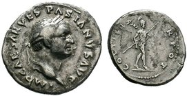 Vespasian, 69-79. Denarius   Condition: Very Fine  Weight: 3.22 gr Diameter: 20 mm