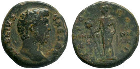 Aelius. Caesar, A.D. 136-138. Æ as (25 mm, 8.95 g, 6 h). Rome, under Hadrian, A.D. 137. L AELIVS CAESAR, bare head of Aelius right / [TR POT] COS II a...