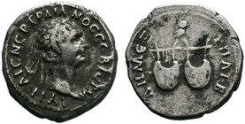 Trajan. A.D. 98-117. AR denarius. Rome mint  Condition: Very Fine  Weight: 3.18 gr Diameter: 19 mm