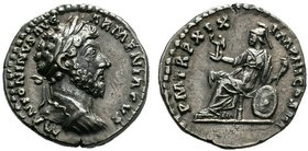 Marcus Aurelius, 161-180. Denarius (Silver, 18mm, 2.96 g 6), Rome, 165. M ANTONINVS AVG ARMENIACVS Laureate head of Marcus Aurelius to right. Rev. P M...