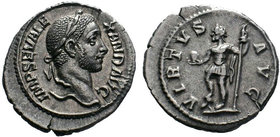 Severus Alexander, 222-235.AR Denarius , Rome, 230. IMP SEV ALEXAND AVG Laureate head of Septimius Severus to right. Rev. VIRTVS AVG Severus Alexander...