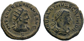 AURELIAN with VABALATHUS (270-275). Antoninianus. Antioch. Obv: IMP C AVRELIANVS AVG. Laureate and cuirassed bust of Aurelianus right. Rev: VABALATHVS...