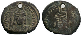 BYZANTINE.Maurice Tiberius, 582-602 AD, AE Follis.   Condition: Very Fine  Weight: 7.68 gr Diameter: 30 mm