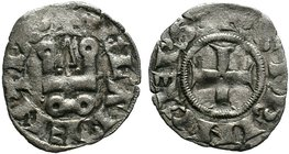 CRUSADER.Neopolitan Princes of Eprius and Corfu. Philippe de Taranto. 1294-1313. AR Denier . Lepanto mint. + (lis) PhS · P TAR · DЄSP , cross pattée /...