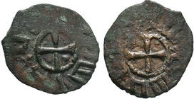 ARMENIA, Cilician Armenia. Baronial . Roupen I. 1080-1095. Æ Pogh. Cross pattée, with pellet in each angle / Cross pattée, with pellet in each angle. ...