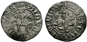 ARMENIA. Cilician Armenia . Levon III. 1301-1307. AR Tavorkin . Levon on horseback advancing right / Crowned lion advancing right; cross behind. AC 42...