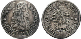 Leopold I, House of Habsburg. XV Kreuzer 1679  Condition: Very Fine  Weight: 6.40 gr Diameter: 30 mm
