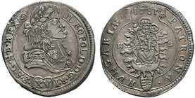 Hungary / Ungarn Hungary, Leopold I - Holy Roman Emperor, 1681  Condition: Very Fine  Weight: 6.09 gr Diameter: 30 mm