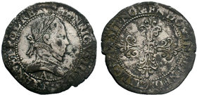 Henri III (1574-1589)AD. AR  Condition: Very Fine  Weight: 13.72 gr Diameter: 34 mm