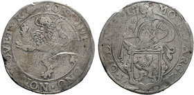 NETHERLANDS. Holland. Lion Daalder (1604). Obv: MO NO ARG ORDIN HOL. Knight standing right, head left, holding up garnished coat-of-arms in foreground...