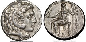 MACEDONIAN KINGDOM. Alexander III the Great (336-323 BC). AR tetradrachm (26mm, 17.04 gm, 6h). NGC AU 5/5 - 4/5, Fine Style. Late lifetime to early po...