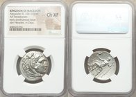 MACEDONIAN KINGDOM. Alexander III the Great (336-323 BC). AR tetradrachm (27mm, 2h). NGC Choice XF. Late lifetime or early posthumous issue of Miletus...
