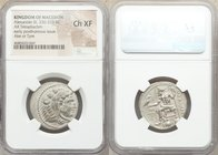 MACEDONIAN KINGDOM. Alexander III the Great (336-323 BC). AR tetradrachm (26mm, 11h). NGC Choice XF. Posthumous issue of Ake or Tyre, dated Regnal Yea...