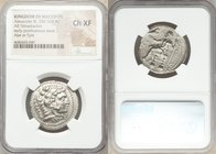 MACEDONIAN KINGDOM. Alexander III the Great (336-323 BC). AR tetradrachm (27mm, 7h). NGC Choice XF. Lifetime or early posthumous issue of Tyre, by Lao...