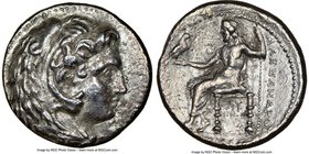 MACEDONIAN KINGDOM. Alexander III the Great (336-323 BC). AR tetradrachm (25mm, 10h). NGC Choice VF. Late lifetime-early posthumous issue of 'Babylon'...