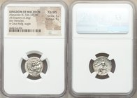 MACEDONIAN KINGDOM. Alexander III the Great (336-323 BC). AR drachm (17mm, 4.26 gm, 12h). NGC Choice MS 5/5 - 4/5. Lifetime issue of Miletus, ca. 325-...