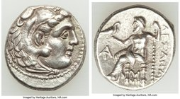 MACEDONIAN KINGDOM. Alexander III the Great (336-323 BC). AR drachm (17mm, 4.49 gm, 11h). Choice XF. Posthumous issue of Magnesia, ca. 319-305 BC. Hea...