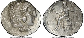 MACEDONIAN KINGDOM. Philip III Arrhidaeus (323-317 BC). AR tetradrachm (29mm, 1h). NGC VF. Lifetime issue of Sidon, dated Regnal Year 13 of Abdalonymo...