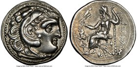 THRACIAN KINGDOM. Lysimachus (305-281 BC). AR drachm (18mm, 11h). NGC Choice XF S. Posthumous issue of Colophon, under Lysimachus of Thrace, in the na...