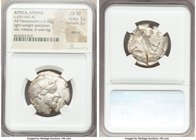 ATTICA. Athens. Ca. 455-440 BC. AR tetradrachm (26mm, 14.45 gm, 4h). NGC Choice XF 5/5 - 2/5, test cut, light-weight specimen. Early transitional issu...
