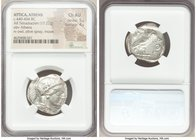ATTICA. Athens. Ca. 440-404 BC. AR tetradrachm (24mm, 17.22 gm, 6h). NGC Choice AU 5/5 - 4/5. Mid-mass coinage issue. Head of Athena right, wearing cr...