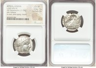 ATTICA. Athens. Ca. 440-404 BC. AR tetradrachm (24mm, 17.24 gm, 6h). NGC Choice XF 5/5 - 4/5. Mid-mass coinage issue. Head of Athena right, wearing cr...