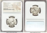ATTICA. Athens. Ca. 440-404 BC. AR tetradrachm (25mm, 17.33 gm, 3h). NGC Choice XF 5/5 - 3/5. Mid-mass coinage issue. Head of Athena right, wearing cr...
