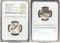 ATTICA. Athens. Ca. 440-404 BC. AR tetradrachm (24mm, 17.08 gm, 8h). NGC Choice VF 5/5 - 3/5, light marks. Mid-mass coinage issue. Head of Athena righ...